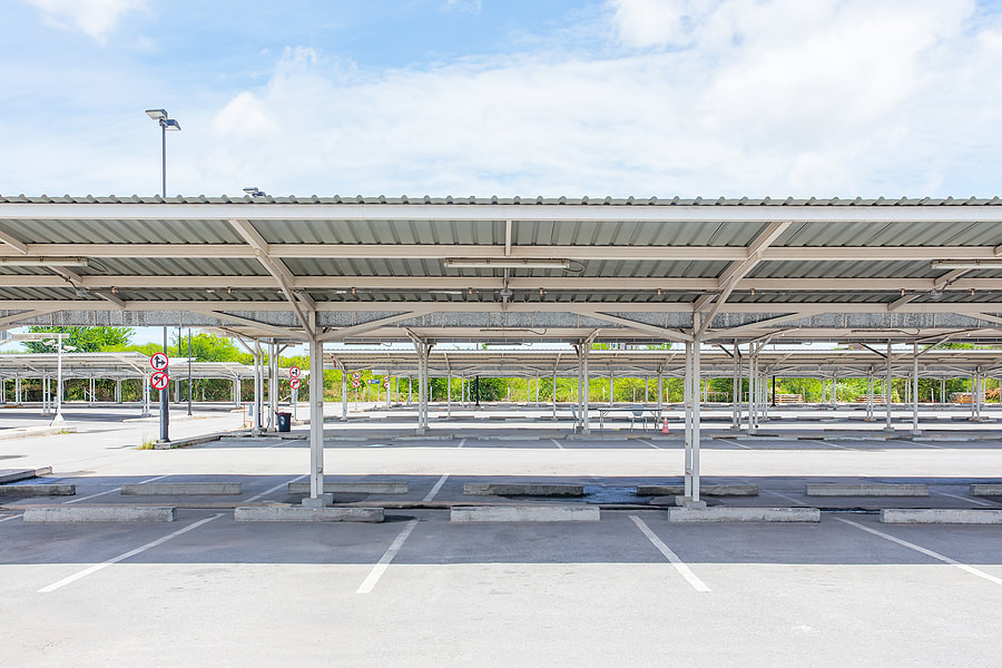 metal awnings services for car parks