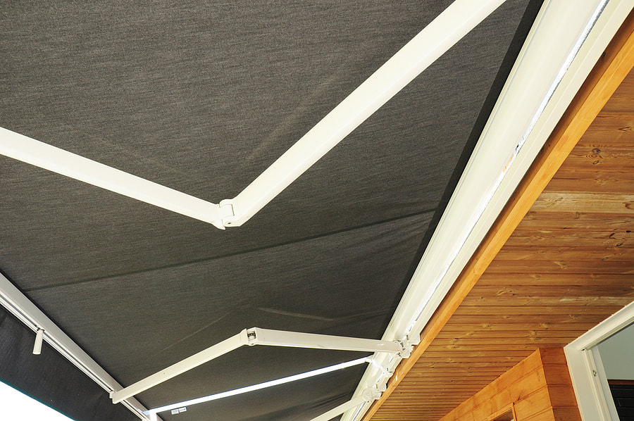 foldable canopy installed outdoors